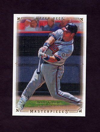 2008 UD Masterpieces Baseball #06 Mark Teixeira - Atlanta Braves