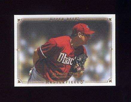 2008 UD Masterpieces Baseball #01 Brandon Webb - Arizona Diamondbacks