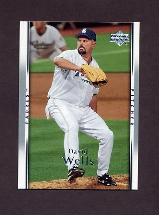 2007 Upper Deck Baseball #906 David Wells - San Diego Padres