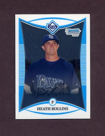 2008 Bowman Chrome Prospects Baseball #BCP208 Heath Rollins - Tampa Bay Rays