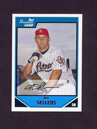 2007 Bowman Prospects Baseball #BP092 Neil Sellers - Houston Astros