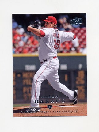 2008 Upper Deck Baseball #774 Aaron Harang / Cincinnati Reds Team Checklist