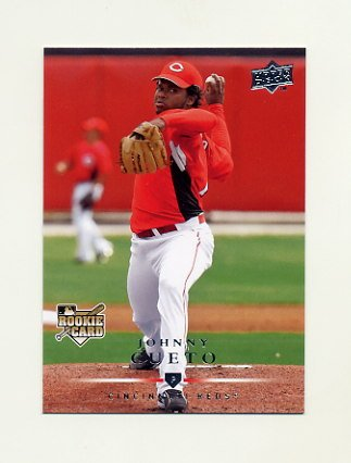 2008 Upper Deck Baseball #707 Johnny Cueto RC - Cincinnati Reds