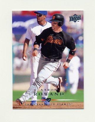 2008 Upper Deck Baseball #637 Aaron Rowand - San Francisco Giants