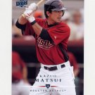 2008 Upper Deck Baseball #512 Kazuo Matsui - Houston Astros