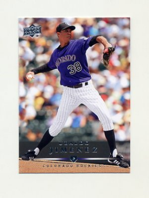 2008 Upper Deck Baseball #488 Ubaldo Jimenez - Colorado Rockies