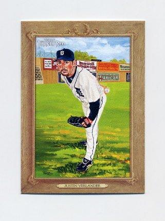 2007 Topps Turkey Red Baseball #169 Justin Verlander - Detroit Tigers
