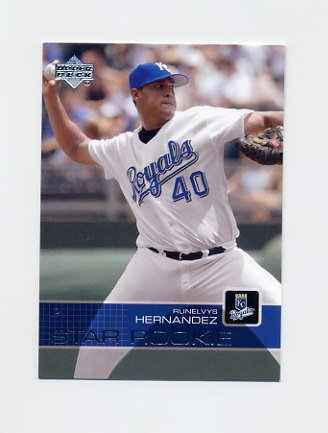 2003 Upper Deck Baseball #014 Runelvys Hernandez SR - Kansas City Royals