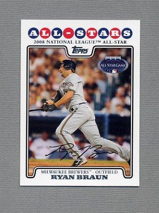 2008 Topps Update Baseball #UH245 Ryan Braun - Milwaukee Brewers
