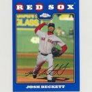 2008 Topps Chrome Baseball Blue Refractors #147 Josh Beckett - Boston Red Sox
