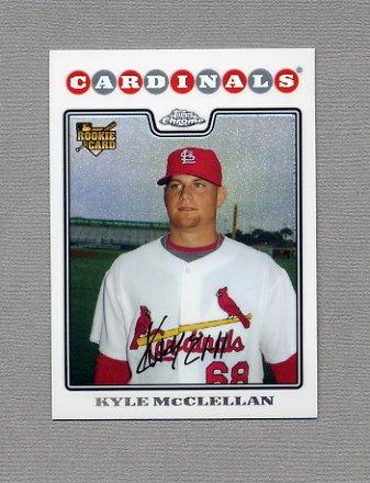 2008 Topps Chrome Baseball Refractors #215 Kyle McClellan RC - St. Louis Cardinals