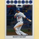 2008 Topps Chrome Baseball #181 Matt Kemp - Los Angeles Dodgers