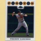 2008 Topps Chrome Baseball #125 Freddy Sanchez - Pittsburgh Pirates