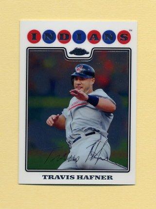 2008 Topps Chrome Baseball #105 Travis Hafner - Cleveland Indians