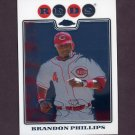 2008 Topps Chrome Baseball #072 Brandon Phillips - Cincinnati Reds