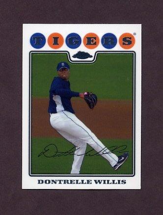 2008 Topps Chrome Baseball #013 Dontrelle Willis - Detroit Tigers