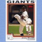 2004 Topps Baseball #580 Jerome Williams - San Francisco Giants