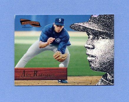 1996 Pinnacle Aficionado Baseball #136 Alex Rodriguez - Seattle Mariners