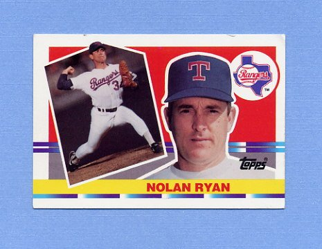 1990 Topps Big Baseball #171 Nolan Ryan - Texas Rangers
