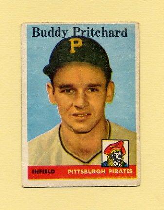 1958 Topps Baseball #151 Buddy Pritchard RC - Pittsburgh Pirates