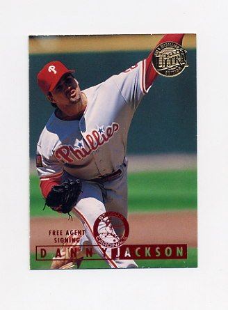 1995 Ultra Baseball Gold Medallion #430 Danny Jackson - Philadelphia Phillies