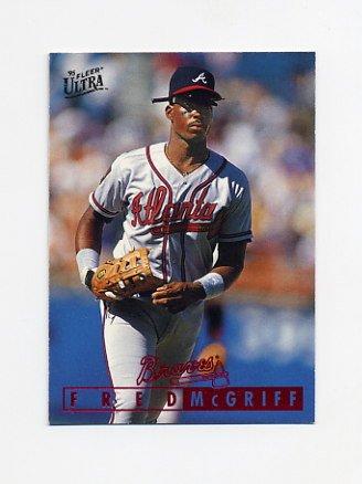 1995 Ultra Baseball #351 Fred McGriff - Atlanta Braves