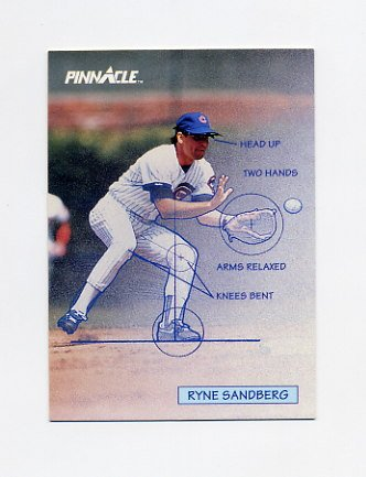 1992 Pinnacle Baseball #617 Ryne Sandberg TECH - Chicago Cubs
