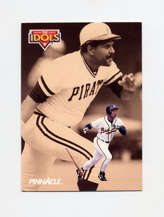 1992 Pinnacle Baseball #588 David Justice / Willie Stargell