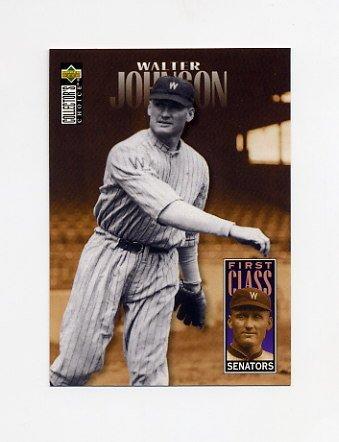 1996 Collector's Choice Baseball #502 Walter Johnson FC - Washington Senators