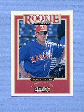 1997 Collector's Choice Baseball #012 Kevin L. Brown - Texas Rangers