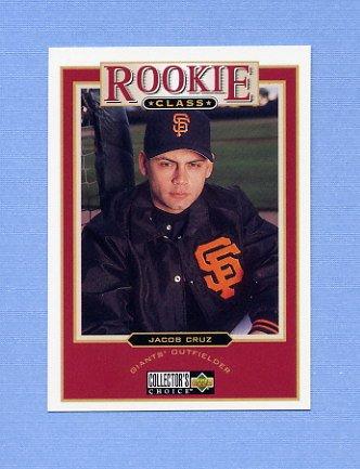 1997 Collector's Choice Baseball #009 Jacob Cruz - San Francisco Giants