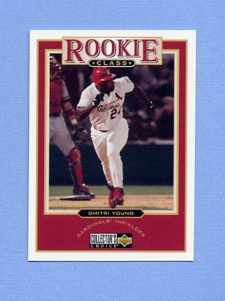 1997 Collector's Choice Baseball #004 Dmitri Young - St. Louis Cardinals