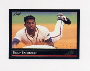 1992 Leaf Baseball Black Gold #448 Deion Sanders - Atlanta Braves