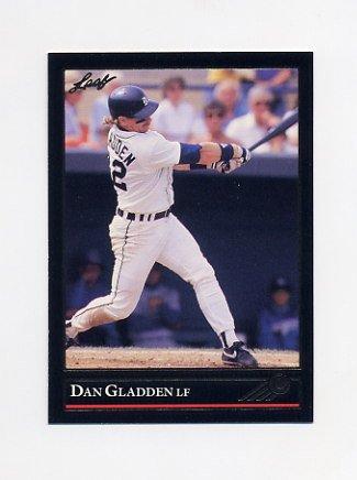 1992 Leaf Baseball Black Gold #239 Dan Gladden - Detroit Tigers