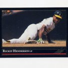 1992 Leaf Baseball Black Gold #116 Rickey Henderson - Oakland A's