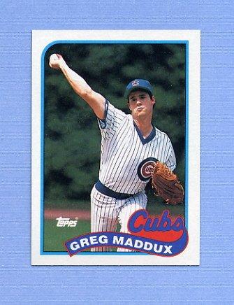 1989 Topps Baseball #240 Greg Maddux - Chicago Cubs