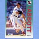 1992 Fleer Baseball #050 Jim Abbott - California Angels