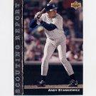 1992 Upper Deck Baseball Scouting Report #SR21 Andy Stankiewicz - New York Yankees