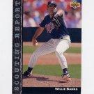 1992 Upper Deck Baseball Scouting Report #SR02 Willie Banks - Minnesota Twins