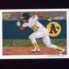 1992 Upper Deck Baseball #090 The Oakland A's Team Checklist / Rickey Henderson