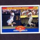 1989 Score Baseball #655 Jose Canseco HL - Oakland A's