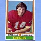 1974 Topps Football #007 Ed Podolak - Kansas City Chiefs