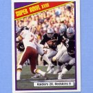 1984 Topps Football #009 Super Bowl XVIII / Marcus Allen
