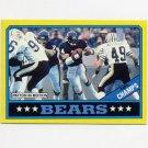 1986 Topps Football #009 Chicago Bears Team Leaders / Walter Payton