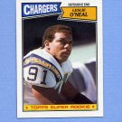 1987 Topps Football #347 Leslie O'Neal RC - San Diego Chargers