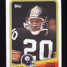 1988 Topps Football #167 Dwight Stone RC - Pittsburgh Steelers