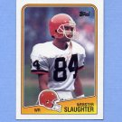 1988 Topps Football #089 Webster Slaughter RC - Cleveland Browns