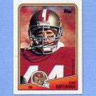 1988 Topps Football #041 Tom Rathman RC - San Francisco 49ers