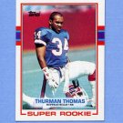 1989 Topps Football #045 Thurman Thomas RC - Buffalo Bills