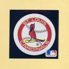 1991 Ultra Baseball Team Logo Stickers St. Louis Cardinals